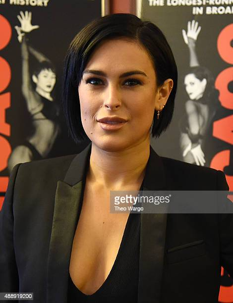 Rumer Willis Promote Her Upcoming Role On Broadway's 'Chicago' at Ambassador Theater on September 18 2015 in New York City