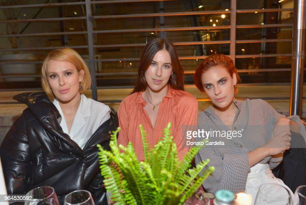 Rumer Willis, Scout Willis and Tallulah Willis attend Nanushka Dinner Hosted by Sandra Sandor and Peter Baldaszti on May 30, 2018 in Culver City,...