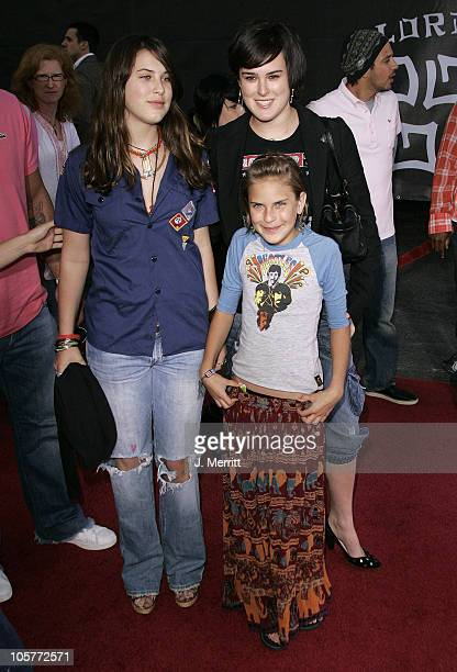"""Rumer Willis, Scout Willis and Tallulah Willis during """"Lords of Dogtown"""" Los Angeles Premiere at Mann's Chinese Theater in Hollywood, California,..."""