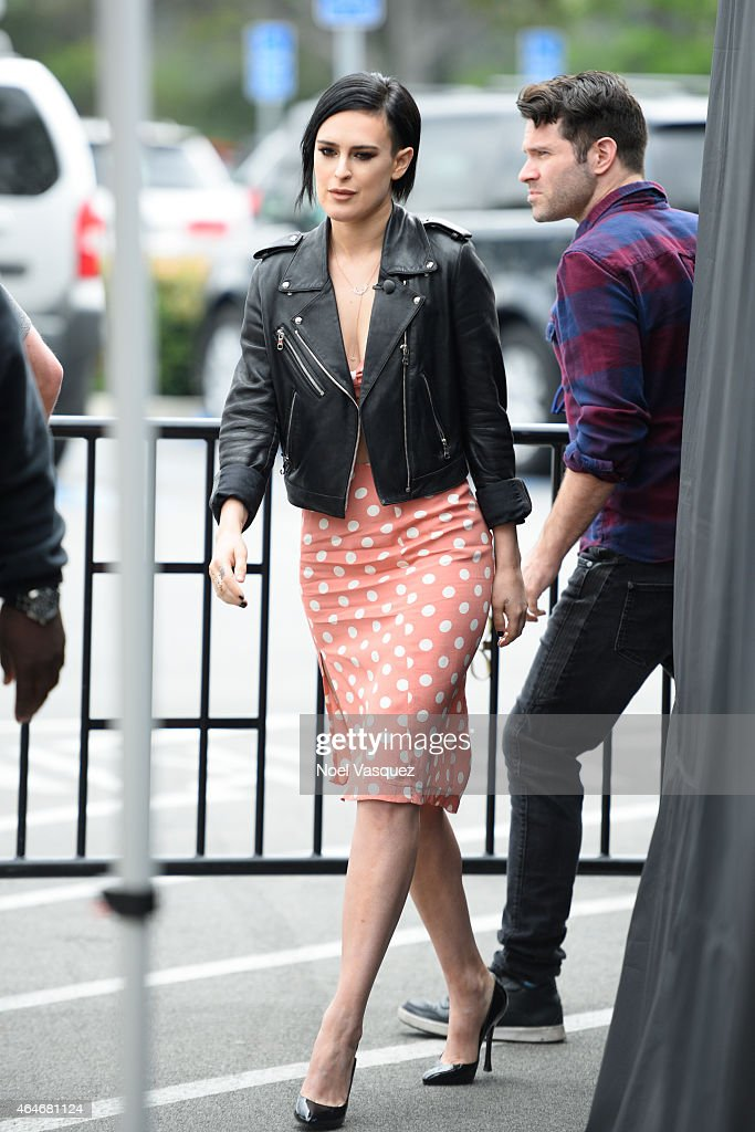 "Rumer Willis And Prince Royce On ""Extra"" : News Photo"