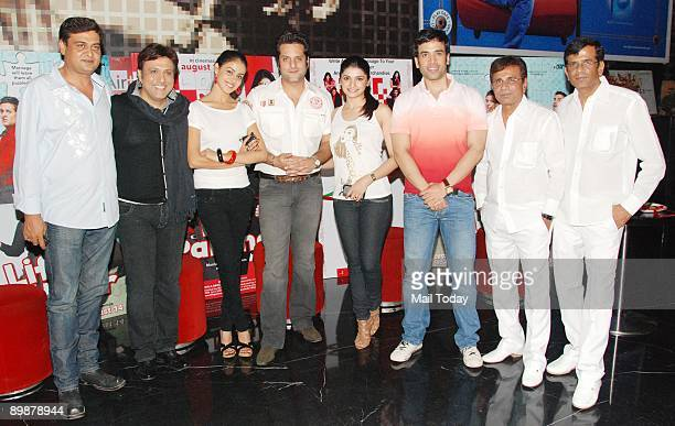 Rumi Jaffery Govinda Genelia D'Souza Fardeen Khan Prachi Desai Tushar Kapoor and AbbasMustan at a press meet for their film Life Partner in Mumbai on...