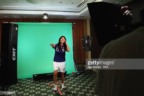 Rumi Utsugi of Japan during the FIFA portrait session on June 24 2011 in Bochum Germany