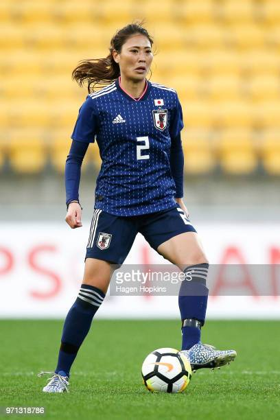 Rumi Utsugi of Japan in action during the International Friendly match between the New Zealand Football Ferns and Japan at Westpac Stadium on June 10...