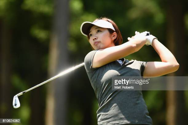 Rumi Yoshiba of Japan hits her tee shot on the 12th hole during the second round of the Nipponham Ladies Classics at the Ambix Hakodate Club on July...