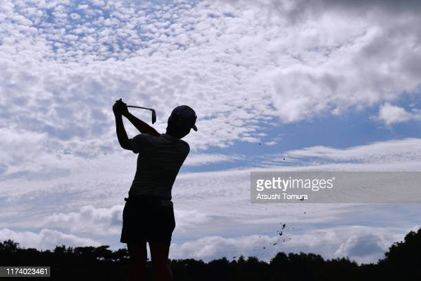 Rumi Yoshiba of Japan hits her tee shot on the 6th hole during the first round of the 52nd LPGA Championship Konica Minolta Cup at the Cherry Hills...