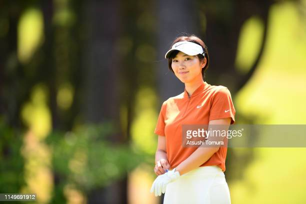 Rumi Yoshiba of Japan is seen on the 5th hole during the first round of the HokennoMadoguchi Ladies at Fukuoka Country Club Wajiro Course on May 17...