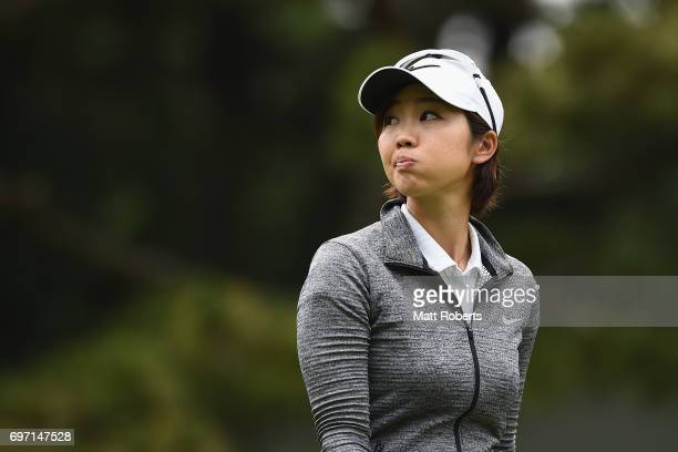 Rumi Yoshiba of Japan looks on during the final round of the Nichirei Ladies at the on June 18 2017 in Chiba Japan