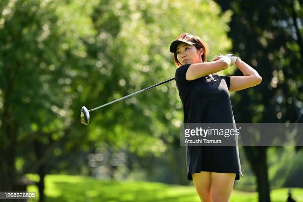 Rumi Yoshiba of Japan plays a shot on the 15th hole during a practice round ahead of the Nitori Ladies Golf Tournament at the Otaru Country Club on...