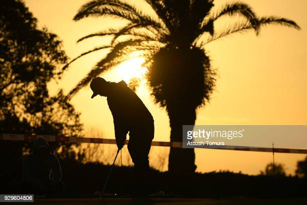 Rumi Yoshiba of Japan putts on the practice green during the first round of the Tokohama Tire PRGR Ladies Cup at Tosa Country Club on March 9 2018 in...