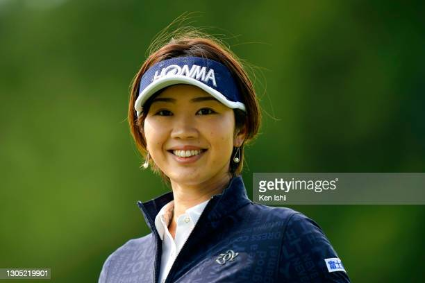 Rumi Yoshiba of Japan smiles after the birdie on the 1st green during the first round of the Daikin Orchid Ladies at the Ryukyu Golf Club on March 4,...