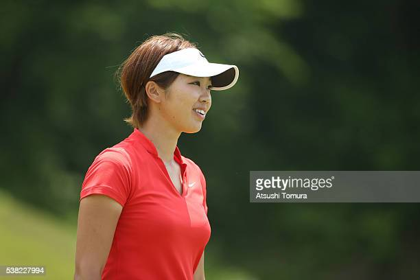 Rumi Yoshiba of Japan smiles during the final round of the Yonex Ladies Golf Tournament 2016 at the Yonex Country Club on June 5 2016 in Nagaoka Japan