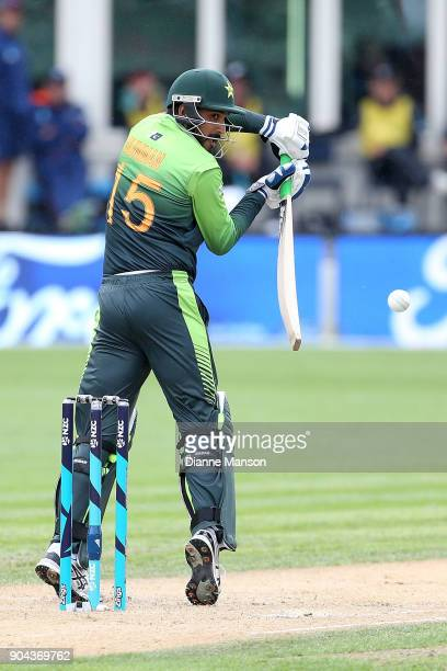 Rumman Raees of Pakistan bats during the third game of the One Day International Series between New Zealand and Pakistan at University of Otago Oval...