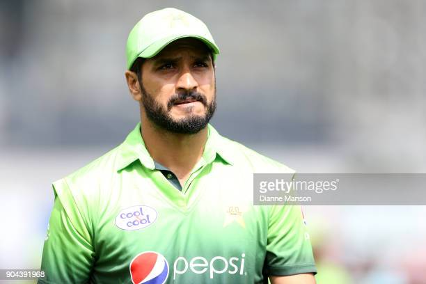 Rumman Raees of Pakistan looks on during the third game of the One Day International Series between New Zealand and Pakistan at University of Otago...