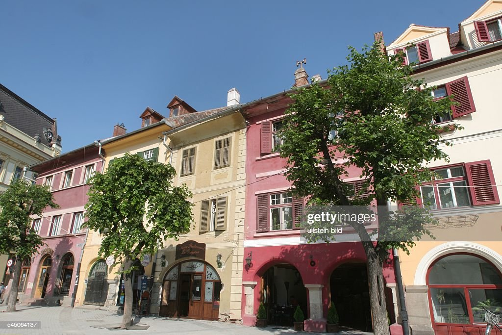 Sibiu Rumänien rumänien sanierte häuser in sibiu pictures getty images