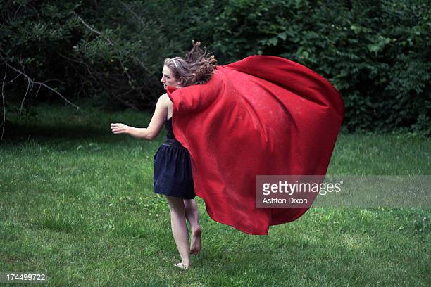 run away - cape garment stock photos and pictures