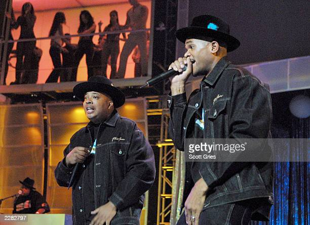 Run DMC performing at the MTV 20th Anniversary party MTV20 Live and Almost Legal at Hammerstein Ballroom in New York City on 8/1/01 Photo by Scott...