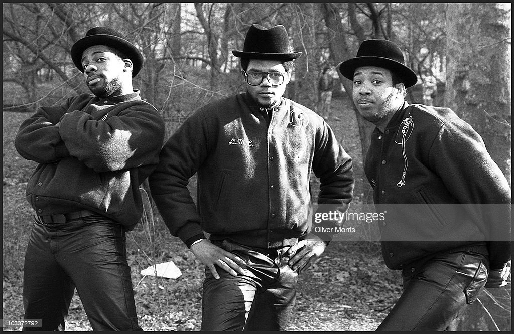 Run DMC's Jason 'Jam-Master Jay' Mizell, Darryl 'D.M.C.' McDaniels and Joseph 'Run' Simmons pose in Central Park, New York, early 1980s. The group from Hollis, Queens, N.Y., was an influential act in the history of hip-hop music.