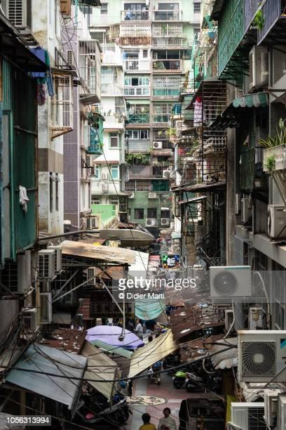 Run down apartment building in Macau