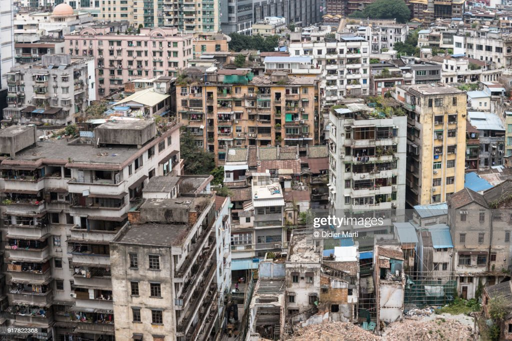 Run Down Apartment Buildings In The Heart Of Guangzhou China Stock Photo