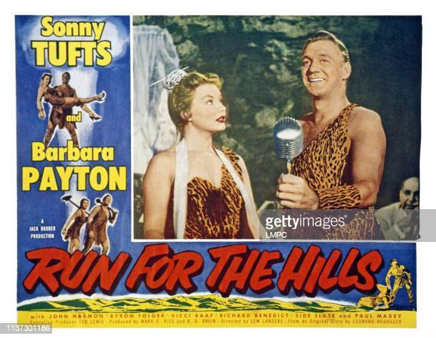 Run For The Hills US lobbycard from left Barbara Payton Sonny Tufts 1953