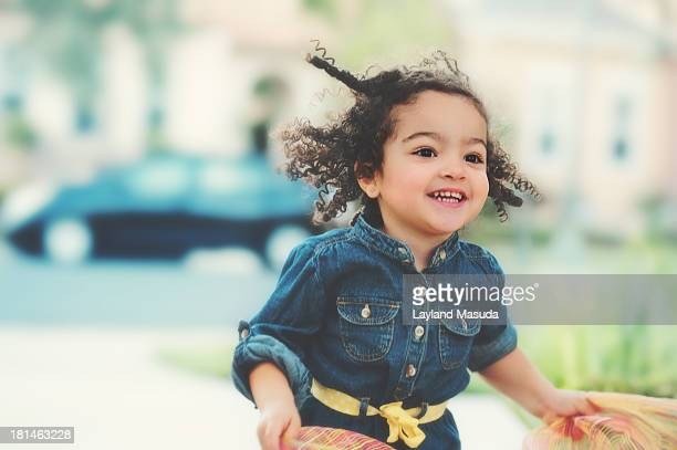 Run, Run, Run - Toddler girl in motion