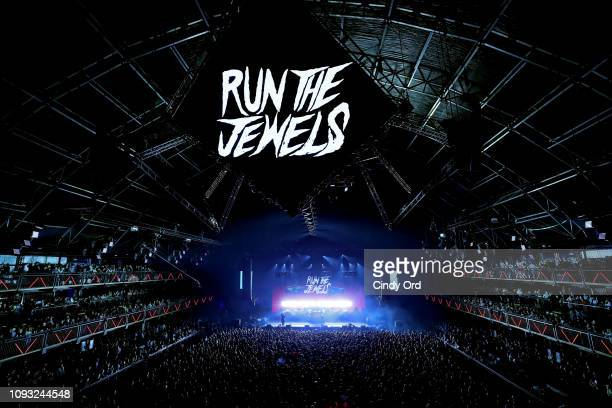 Run the Jewels performs onstage at DIRECTV Super Saturday Night 2019 at Atlantic Station on February 2 2019 in Atlanta Georgia