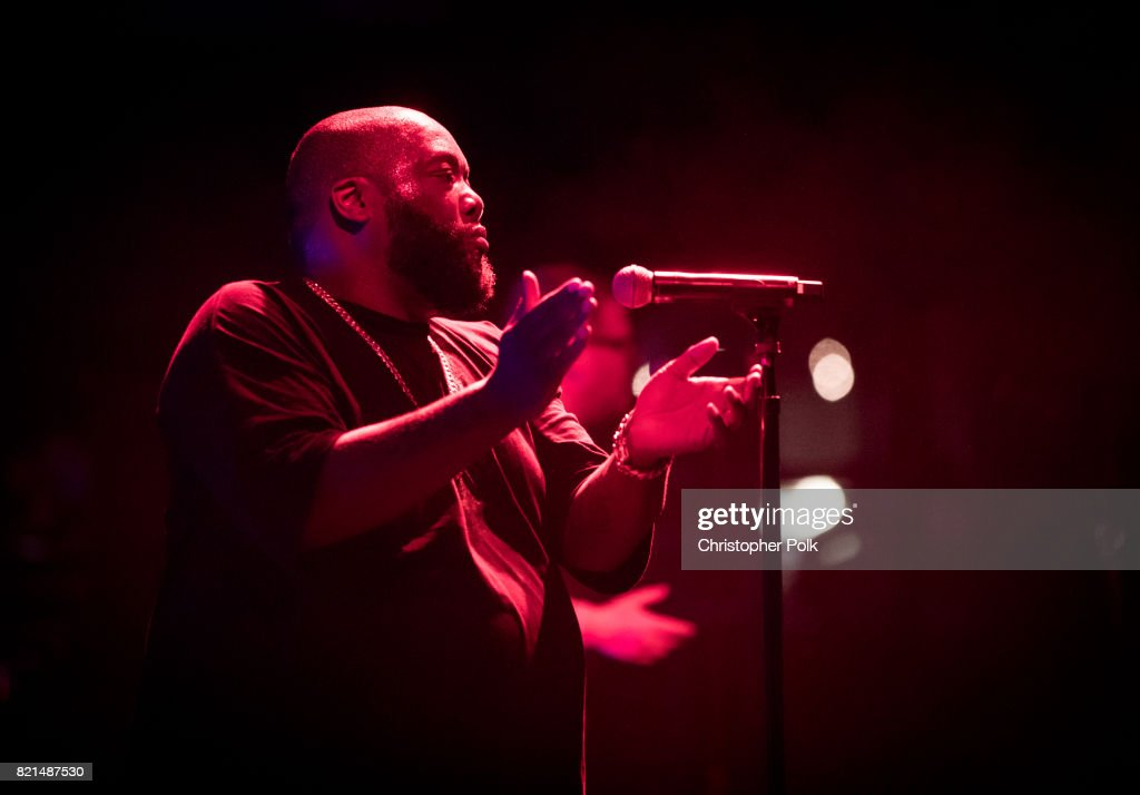Run The Jewels performs onstage on day 3 of FYF Fest 2017 at Exposition Park on July 23, 2017 in Los Angeles, California.
