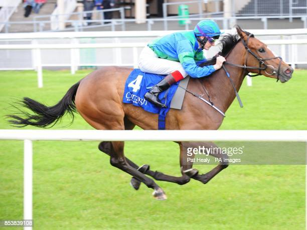 Run The Red Light ridden by Fran Berry wins the Loder EBF Fillies Race at Curragh Racecourse County Kildare