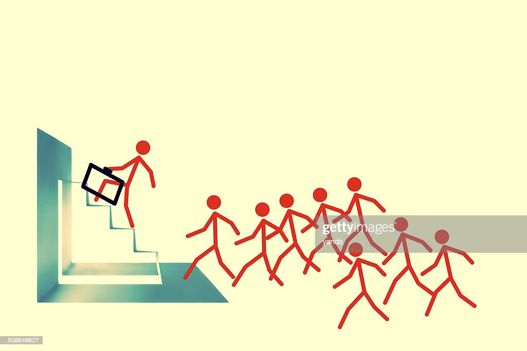Run towards success : Stock Photo
