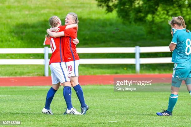 Runa Lillegard of Norway just made a hat trick during the Nordic Cup 2017  match between dadc8ca8582fd