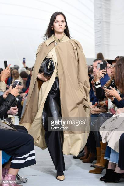Runa Neuwirth walks the runway during the Celine show as part of the Paris Fashion Week Womenswear Spring/Summer 2018 on October 1 2017 in Paris...