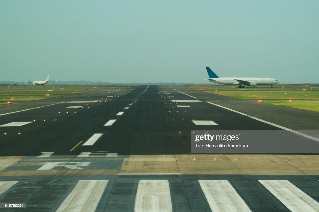 Runaway in Sydney airport in Australia : ストックフォト
