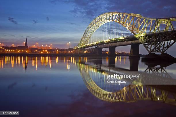 Runcorn Bridge reflected