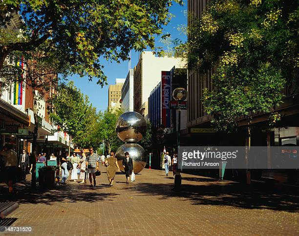 Rundle Mall, pedestrian-only shopping mall.