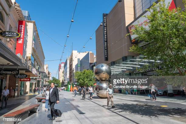 rundle street, adelaide, australia - adelaide stock pictures, royalty-free photos & images