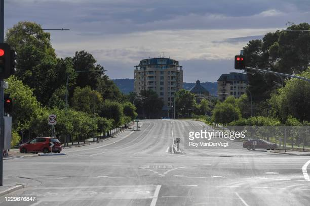 Rundle street in the food district is virtually empty on November 19, 2020 in Adelaide, Australia. South Australian Premier Steven Marshall has...