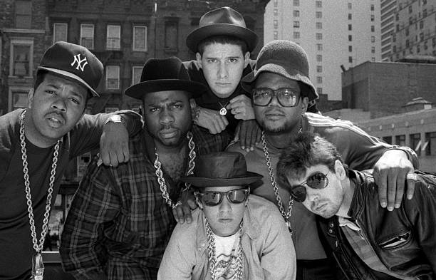 Run-DMC and The Beastie Boys get it together on roof...