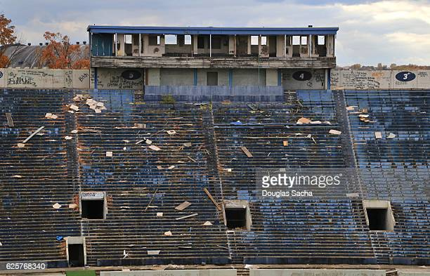 A run-down and abandoned Stadium, Akron, Ohio, USA
