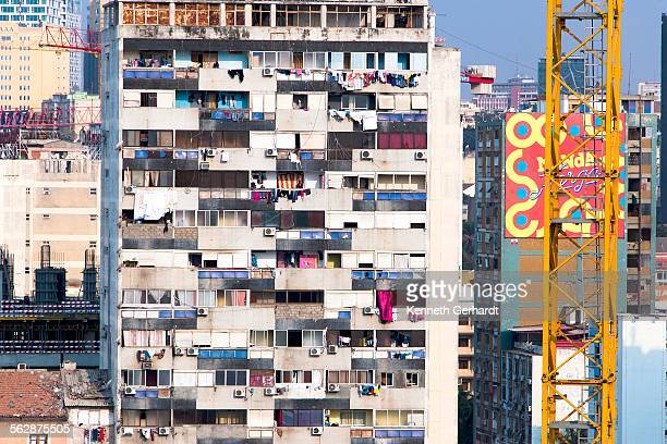 Rundown block of flats, Angola, Luanda Bay