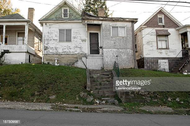 run-down housing, Fairmont, West Virginia