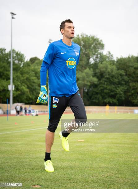 Rune Almenning Jarstein of Hertha BSC during the training camp on July 5 2019 in Neuruppin Germany