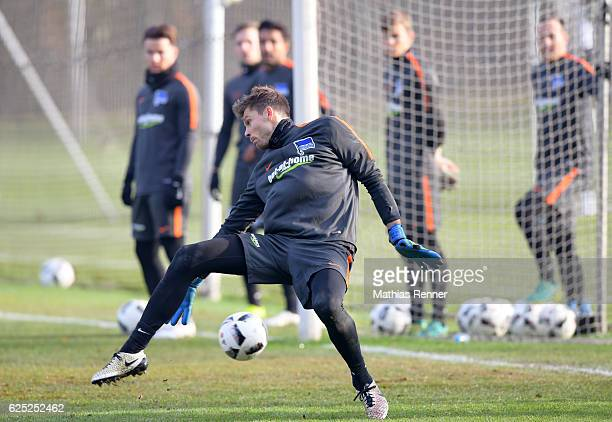 Rune Almenning Jarstein of Hertha BSC during the training on november 22 2016 in Berlin Germany