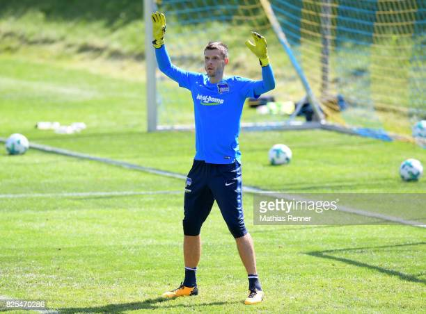 Rune Almenning Jarstein of Hertha BSC in action during the training camp on august 2 2017 in Schladming Austria