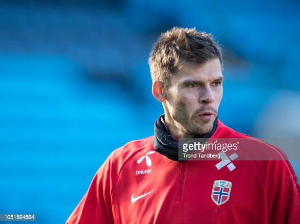 Rune Almenning Jarstein of Norway during training before the UEFA Nations League C group three match between Norway and Slovenia at Ullevaal Stadion...