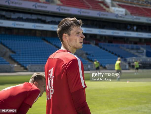Rune Jarstein of Norway during training before Iceland v Norway at Ullevaal Stadion on May 30 2018 in Oslo Norway