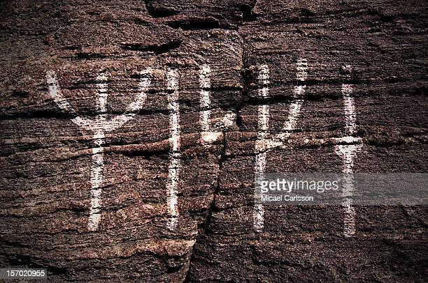 Runes on rock