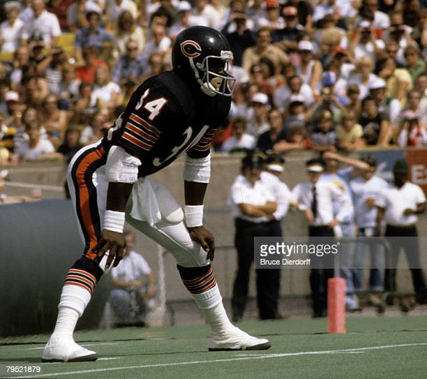 Runinng back Walter Payton of the Chicago Bears in a September 1981 game