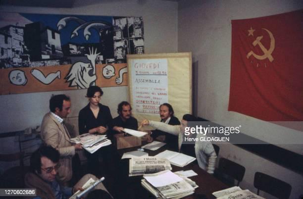 Réunion dans une section locale du Parti Communiste italien , juin 1976, Rome, Italie.