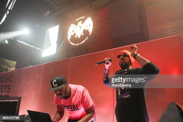 Runna and Swiss Beatz perform at Bacardi X The Dean Collection Present No Commission Berlin on July 1 2017 in Berlin Germany