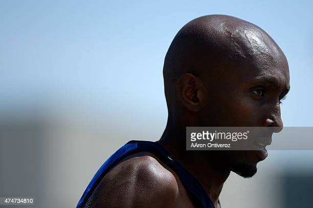 USA runner Abdi Abdi Rahman prepares for the men's elite race during the Bolder Boulder People competed in the annual 10k road race on Monday May 25...